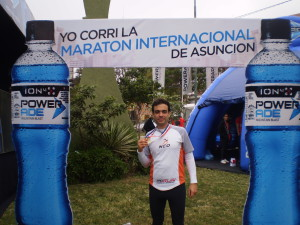 Matías Mollinier desde la Maratón Internacional de Asunción! Felicitaciones !!!