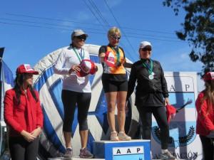 Marcela Fernandez 3º puesto en su categoría 5º Maratón Angel Naim Pergamino